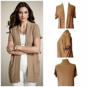 Chico's Avira Vest Sweater Coat in Camel Sz2